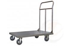 Pianale Medio mm 500x800 in acciaio inox AISI 304 con 2 ruote con freno
