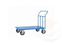 Carrello a Pianale con 4 ruote in Gomma Industriale