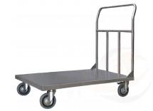 Pianale in acciaio inox con 4 ruote girevoli