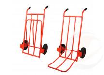 portasacchi leggero con pedana ribaltabile ruote pneumatiche
