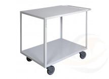 Maxi carrello ufficio a due piani alta silenziosità, 2 ruote con freno