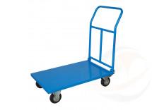 Pianale in lamiera con manico pieghevole, 4 ruote girevoli (